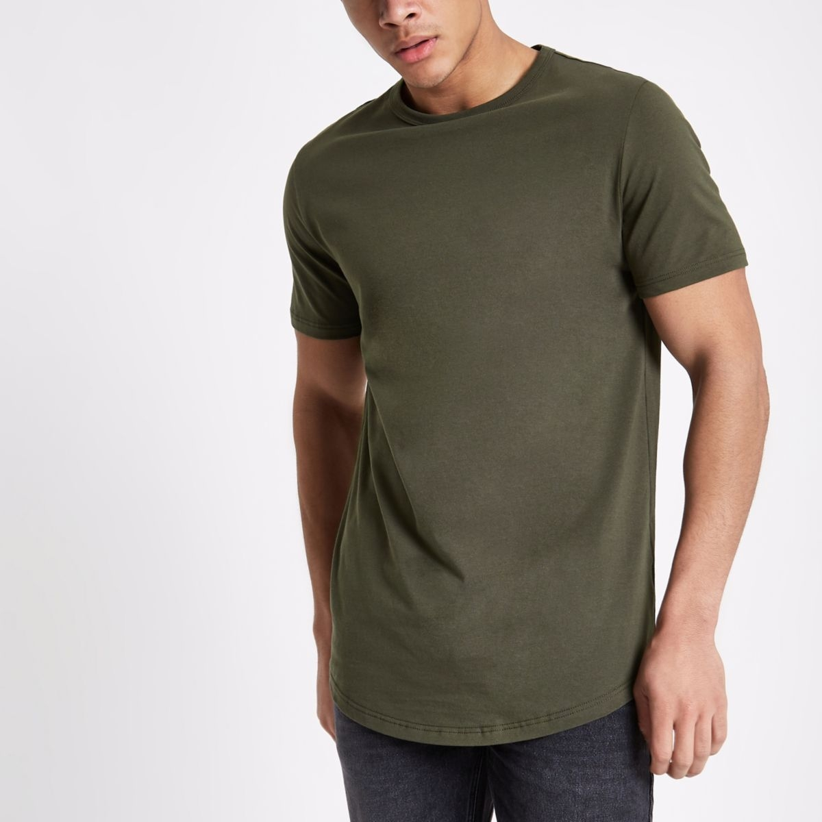 bd0e1ecf042d Buy Men Army Green Solid Tshirt online from Southwood