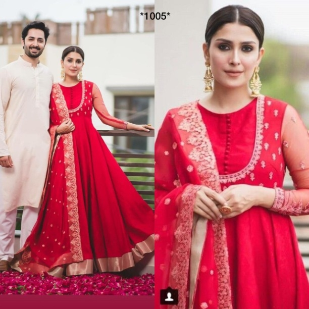 a082febf45c Buy Bridal Wear Dark Red Tafeta Silk Designer Long Anarkali Salwar Suit  Floor Touch Embroidered Gown Women Dress online from Jio Ethnic