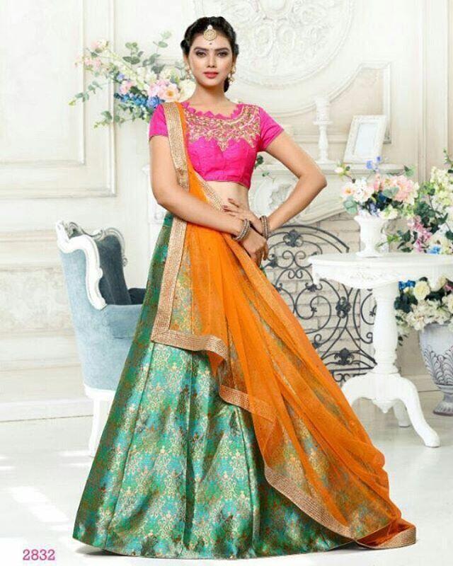 4f4e28580d Buy DESIGNER PURE BANARASI SILK LEHENGA online from KK CLOTHING STORE