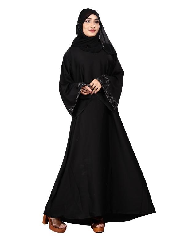 47e0b8930b1e Buy Justkartit Black Color Plain Islamic Dress Nida Abaya Burkha With Hijab  For Women (JK5050) online from JUSTKARTIT