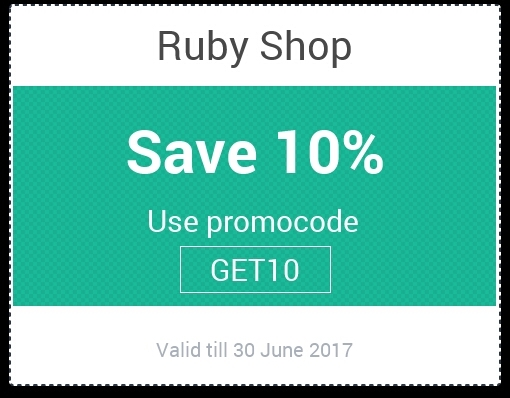 buy get free discount coupon code online from ruby shop