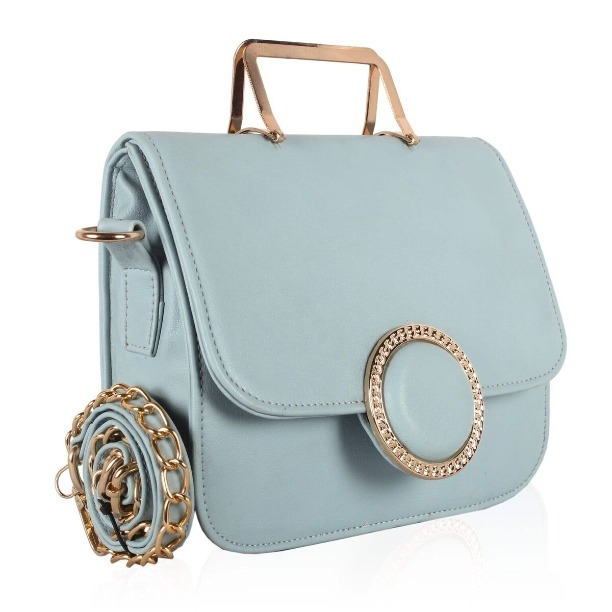 6cab0428ed Buy Voaka Women`s Designer Sling Bag SKU - Leather-O-Sky-Blue SKU -  Leather-O-White (Code  14FC) online from Amazing Dclick