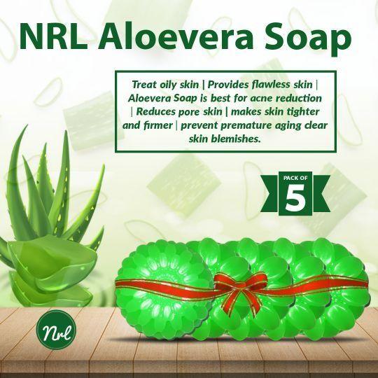 NRL Handmade Aloe Vera Soap Pack Of 5