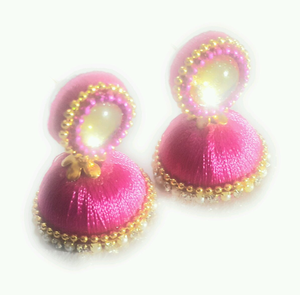f1595fa62 Buy SAJAGO'S Designer Silk Thread Earrings online from SAJAGO Handcrafts