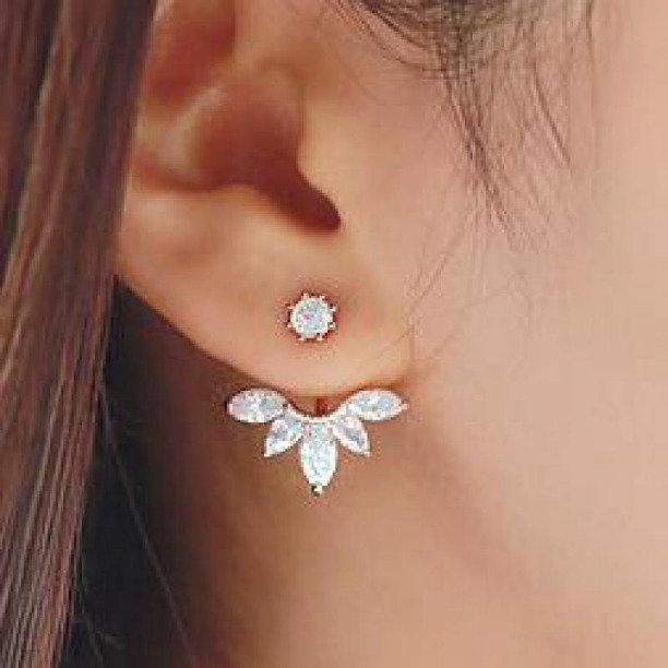 4ff669b5d Buy Evince Mode beautiful Crystal silver ear stud Earrings in metal for  women. online from Evince MODE