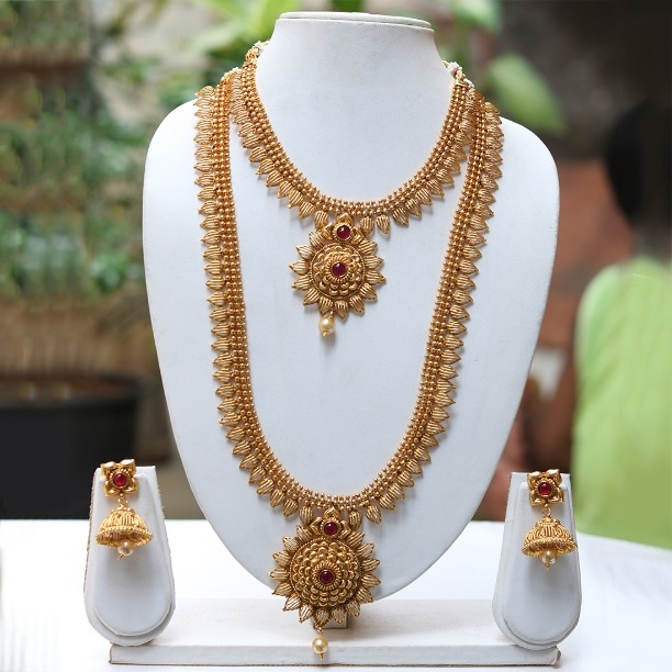 93be2da08b Buy LE0000000044 Latest Antique Design maroon Necklace online from Look  Ethnic
