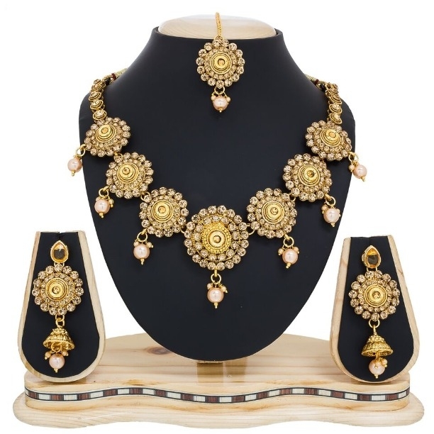 free nigerian lace wedding jewellery beads jewelry set gold choker item new bridal african necklace splendid women plated fabric