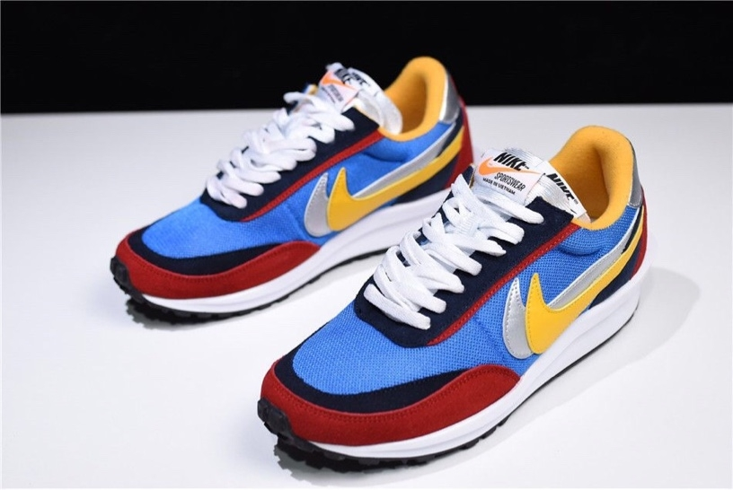 bc20e0412c31 Buy Sacai X Nike✓️LDV Waffle Hybrid - White Blue Red Yellow Black Silver  online from Luxury junction