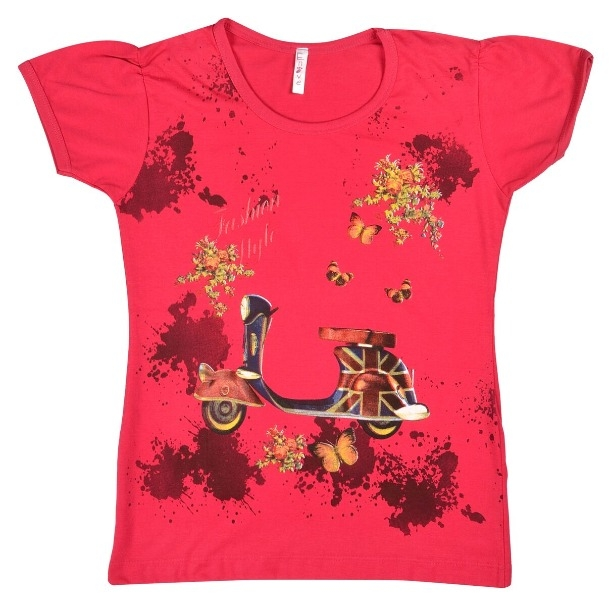 f040a1773 Buy Girls Cotton T-Shirt SKU - NEUVIN Girls T Shirts SCN Print D Pink  (Code  XLBR) online from Fashionmartz