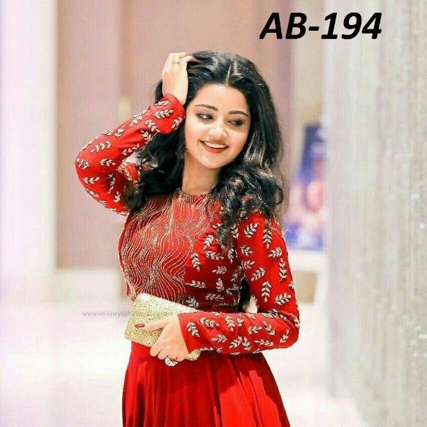 7ce34ea0734b4e Party Wear New Designer Anupama Red Georgette Crop Top Indian Ethnic Lehenga  Choli