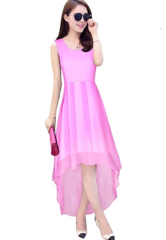 Buy Women Fashion Arrival Purple High Low Women Dress Party Wear ...