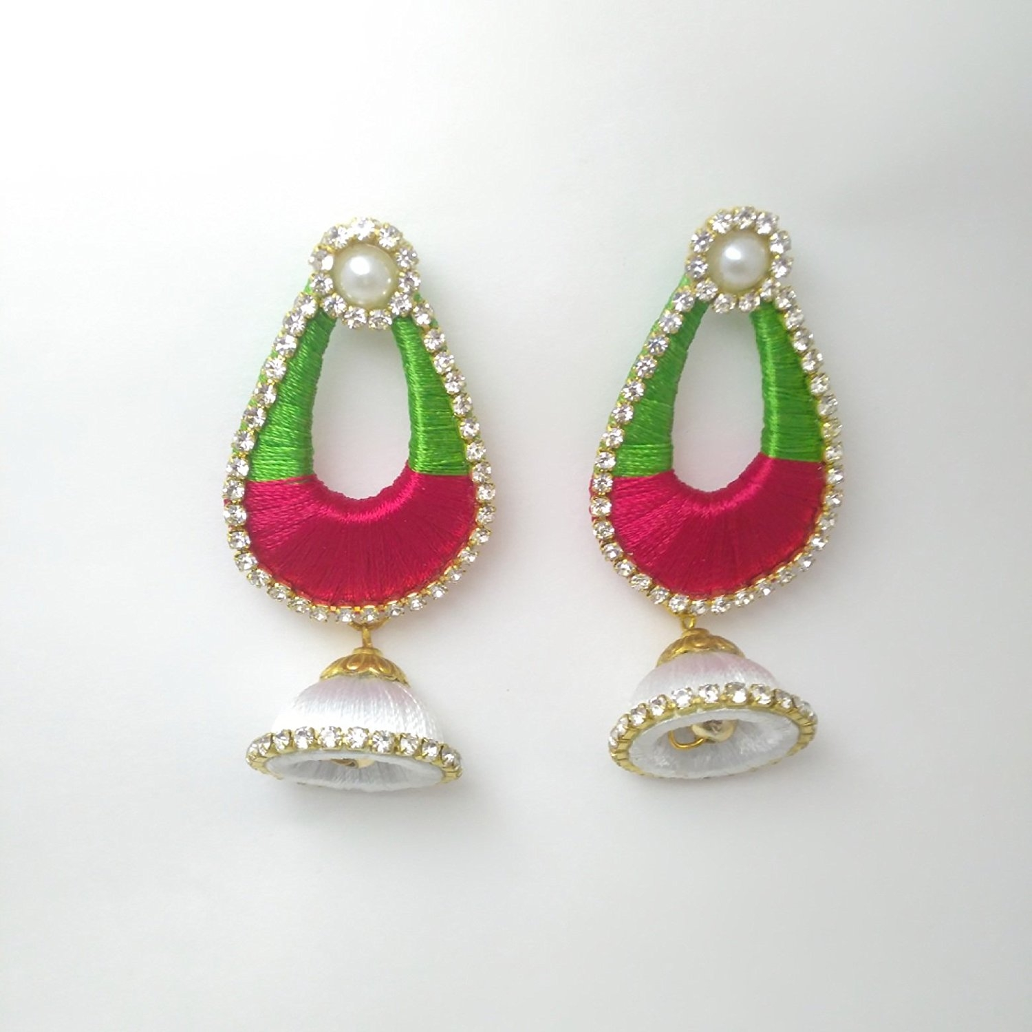 Silk Thread Earrings Multi Colour