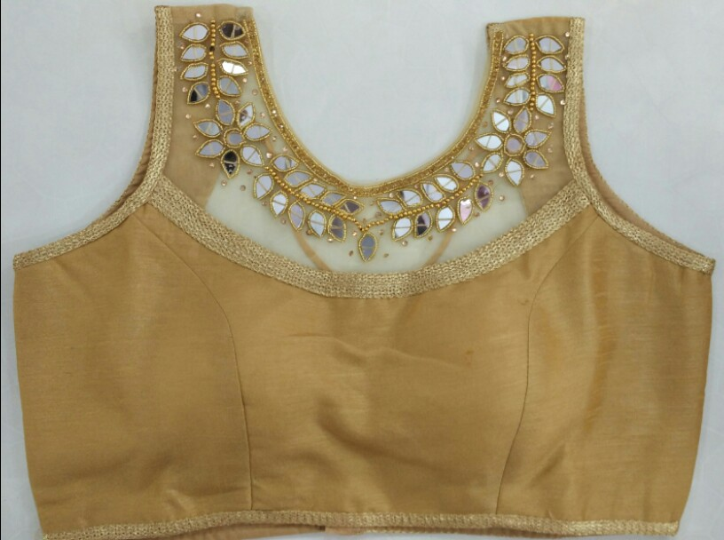 7a708e78d30b26 Buy Golden Heavy Designer Blouse 2301-I online from Womanora