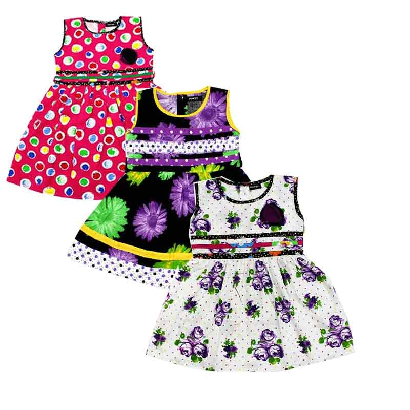 fef6c43a4b4778 Buy Girl Baby Cotton Frock Combo online from VarniMart