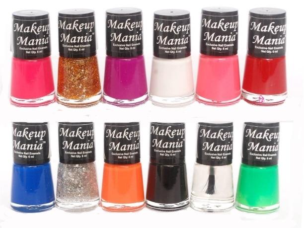2572475be Buy Makeup Mania Nail Polish (Set of 12 Pcs) (Multicolor Set   73 ...