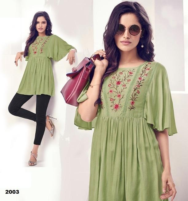 5e1393193d3 Buy Fashionable Rayon Top (Code: 12TA) online from Fk Enterprises