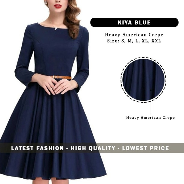 0146e97a045d Buy Exclusive Western Wear Collection Navy Blue Skater One Piece ...