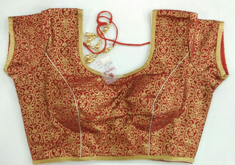 2b187f4c0c2f4b Buy Brocade Red Color Designer Blouse online from Womanora
