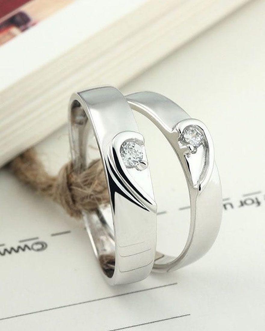 3aa334362218f Heart Eternal Love Silver Couple Ring