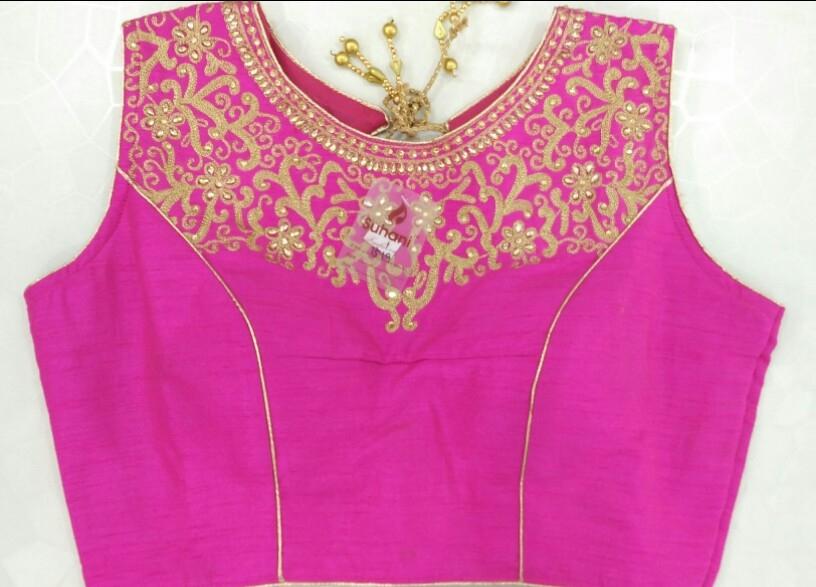 03163a62657533 Buy Aari Work Heavy Designer Blouse 1519- Rani online from Womanora