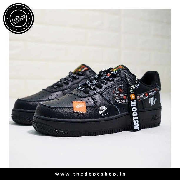 4c47d7723fbf Buy NIKEE AIRFORCE (JUST DO IT (BLACK) 10MAR019 online from THE DOPE ...
