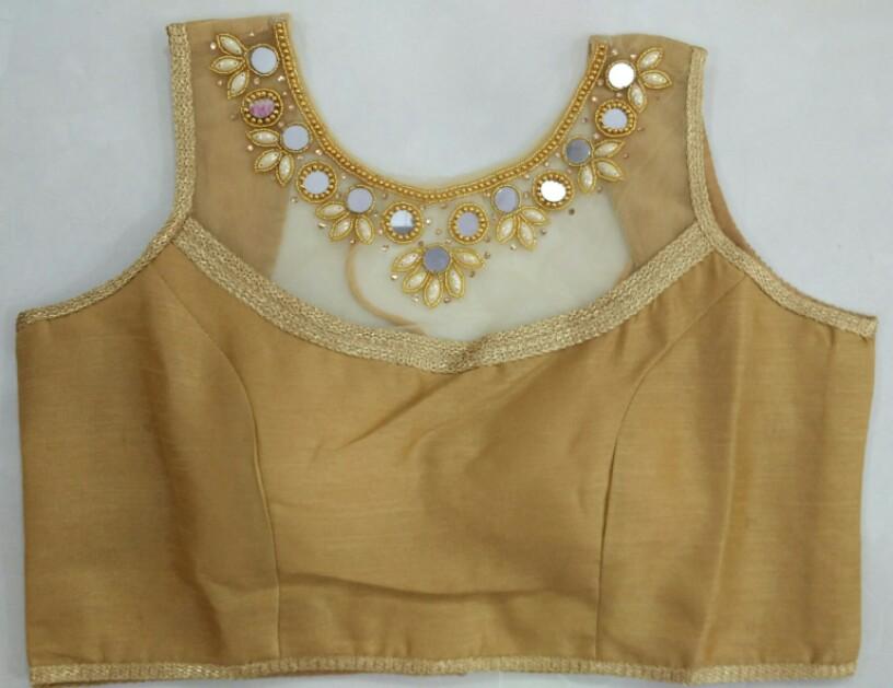 8c15c7cd9df3f0 Buy Golden Heavy Designer Blouse 2301-C online from Womanora