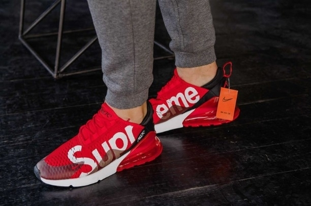 fa1ea1a06e74ed Buy Nike✓Air Max 270 Supreme Red Black online from Shoetrendz