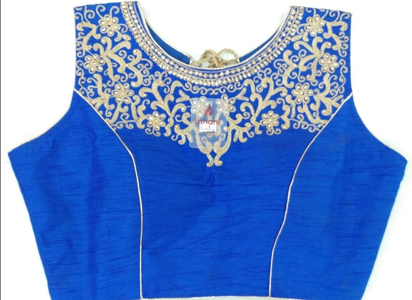 4a7c9a78a8042f Buy Aari Work Heavy Designer Blouse 1519- Royal Blue online from Womanora