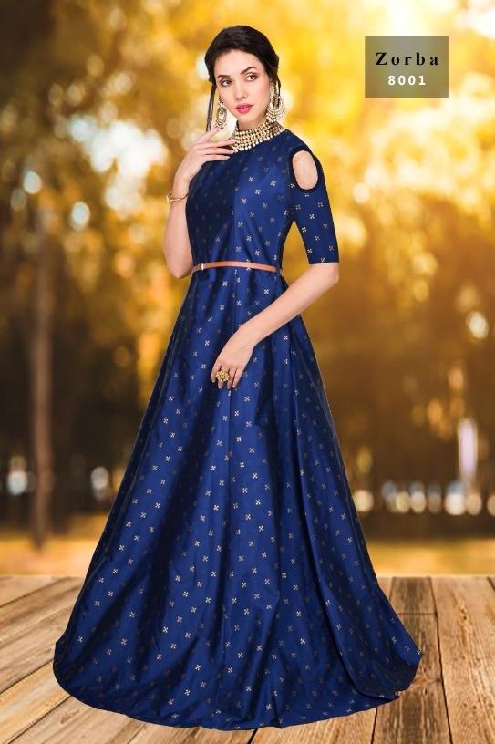Buy Exclusive Designer Jauqard Taffeta Fency Silk Party Wear Gown ...