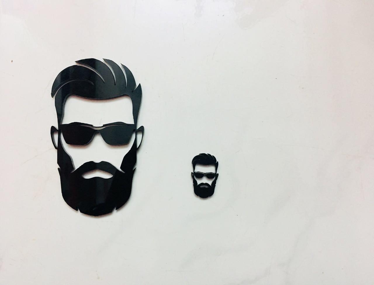Buy beard man the logo man 3d emblem decal car bike sticked logo online from the logo man