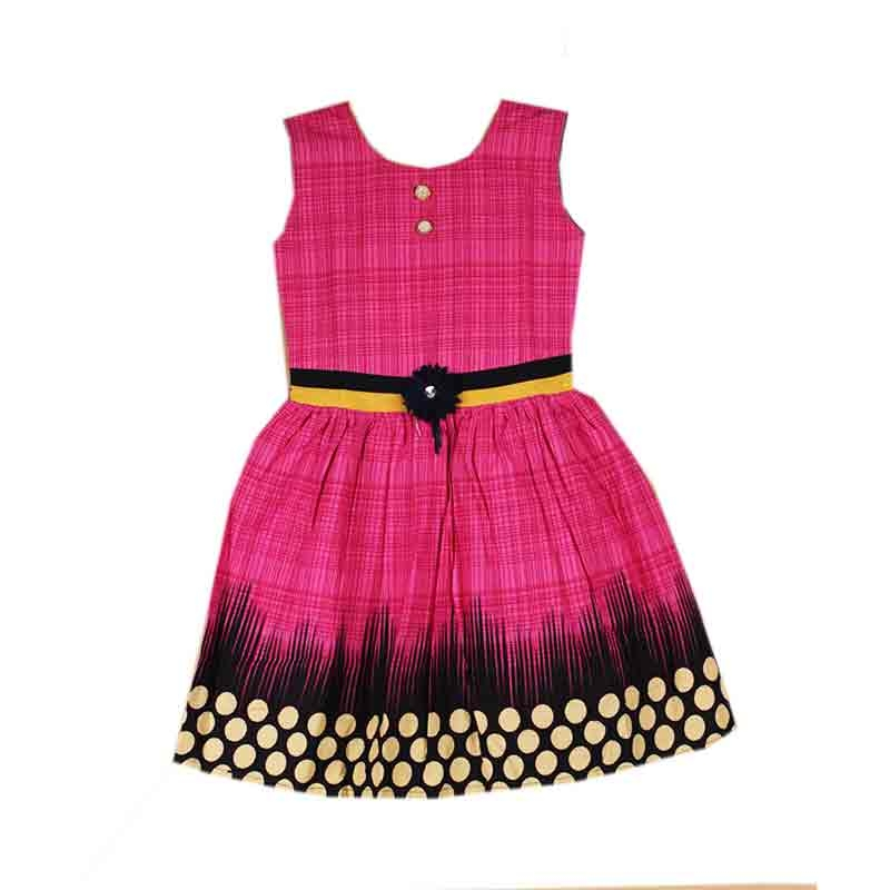 cd481af1bb15de Buy Girl Baby Pink color cotton frock online from VarniMart