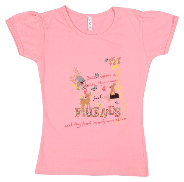 4c575aa22 Buy Girls Cotton T-Shirt SKU - NEUVIN Girls T Shirts SCN Print L Pink  (Code  1SHU) online from WaresCart