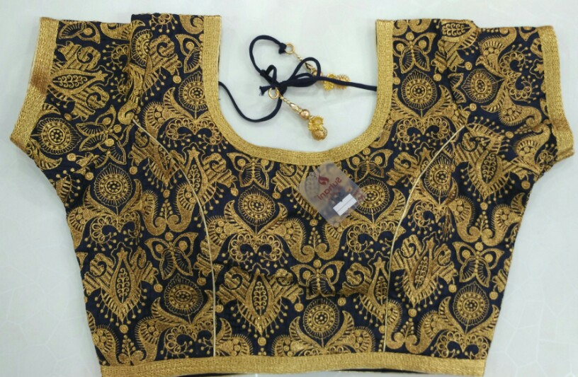 ff285e2a5979ea Buy 501 Navy Blue Designer Blouse online from Womanora