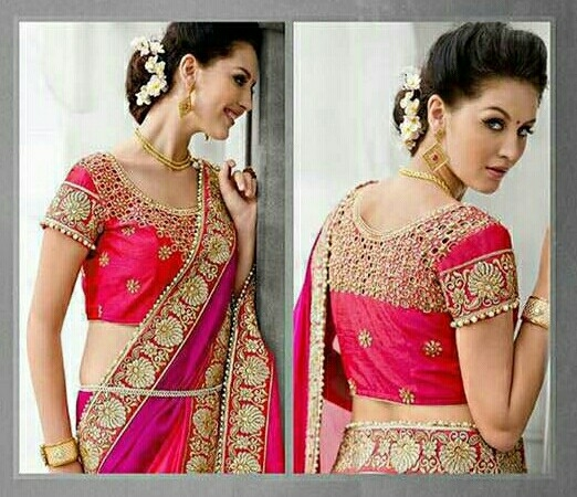 fdecb7e035f8e Buy Heavy Work Designer Saree with Work Blouse online from Lovely Fashion