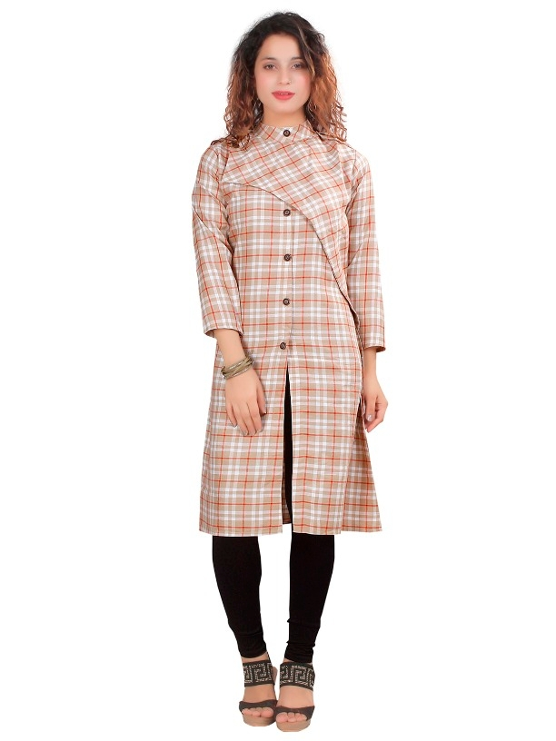 207086bfd5 Buy Garun Cross Checks Design Full Sleeve Women s Dress online from ...