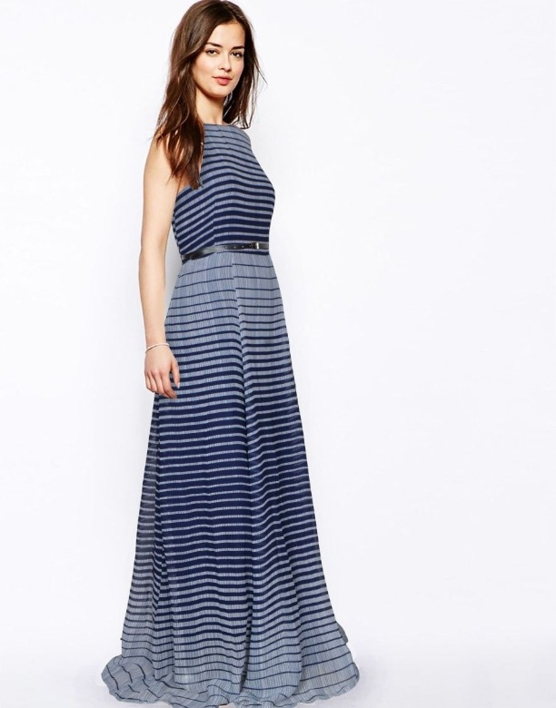 b5a9faf9ad Buy Decent Western Stylish Heavy American Crepe Blue Party Wear Gown ...