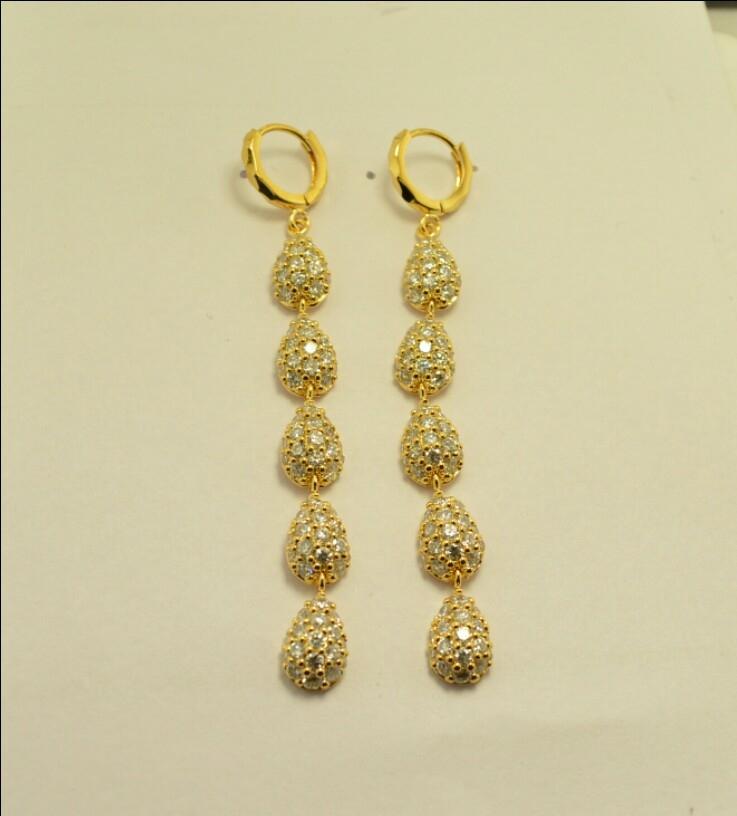 American Daimond 18k Gold Plated Earrings