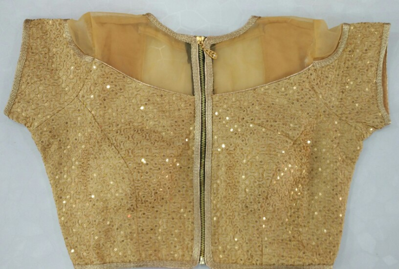 fcbeb389ee2a4a Buy Golden Jacket Designer Blouse With Front Zip online from Womanora