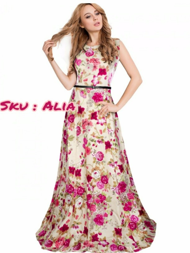 Buy Long floral party dress online from Dazzles