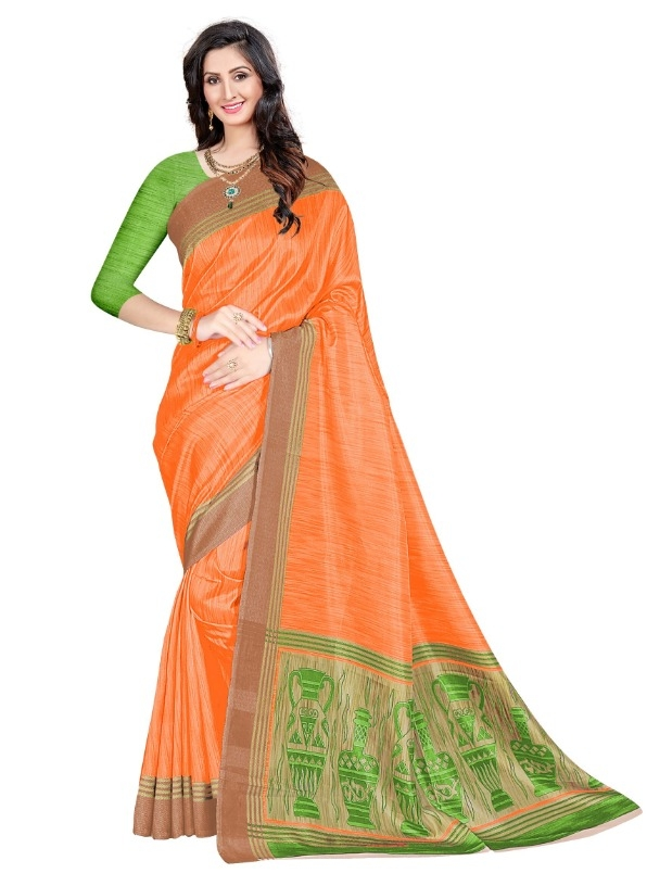 dedcf397a Delicate Mysore Silk Solid With Printed Regular Saree (Code  C431704)