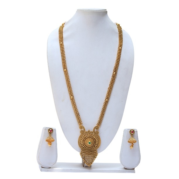 472c97b0e4 Buy beautiful green maroon kundan necklace set with jhumki earring online  from swarajshop