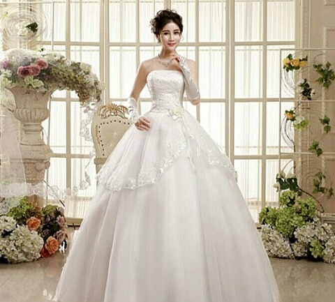 Buy White ball gown online from thepassionstore