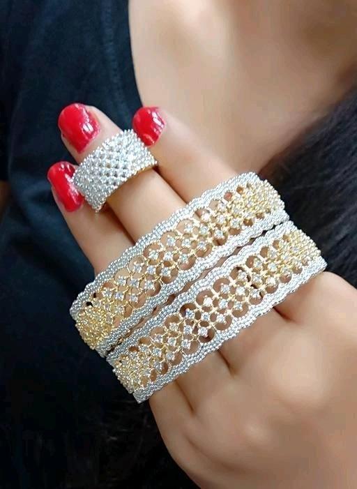 Radiant American Diamond Jewellery Set