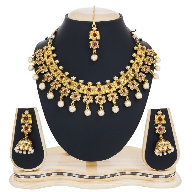 gold jewellery com bridal set jewelmaze products plated